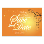 Mason Jar Firefly Lightning Bug Save The Date Personalized Invite