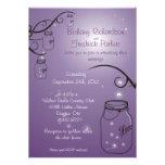 Mason Jar Firefly Wedding Invitation Purple Grape