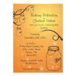 Mason Jar Firefly Wedding Invitation Sunset