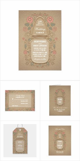 Mason Jar Floral Romance Wedding Collection