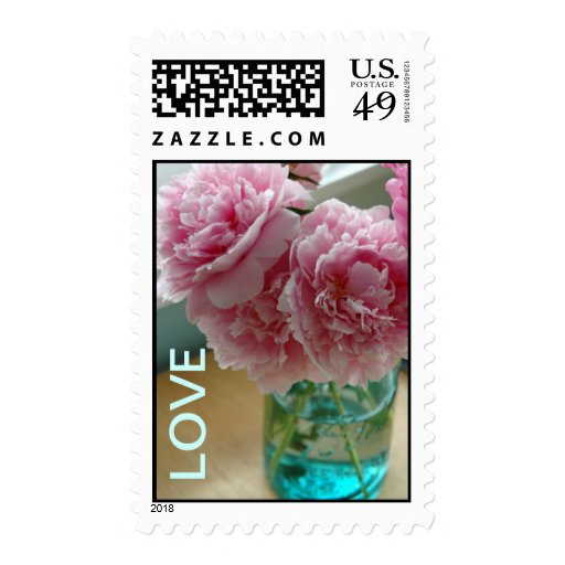Mason Jar Full of Love Postage Stamps