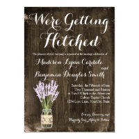 Mason Jar Getting Hitched Country Wedding Invites