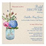 Mason Jar Goldfish Love Bridal Shower Personalized Invite