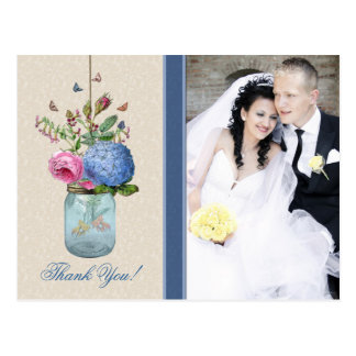 Mason Jar - Goldfish Love - Personalized Thank You Postcard