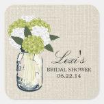 Mason Jar Hydrangea Bridal Shower Sticker