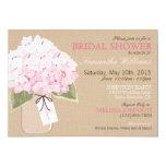 Mason Jar Hydrangea Rustic Bridal Shower Card