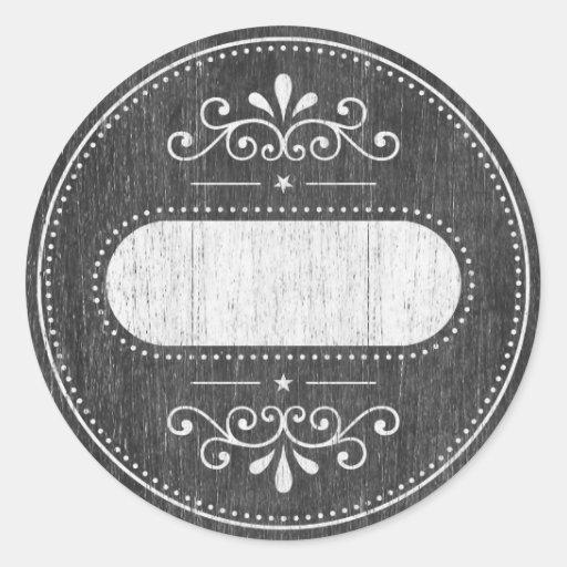 Mason Jar label - chalkboard series Round Sticker