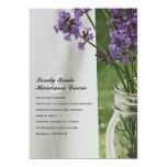 "Mason Jar Lavender White Porch Wedding Invitation 5"" X 7"" Invitation Card"