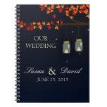 Mason Jar Oak Tree Wedding Notebook