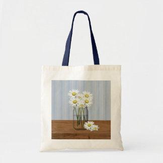 Mason Jar Of Daisies Bag