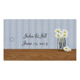 Mason Jar Of Daisies Hang Tag Double-Sided Standard Business Cards (Pack Of 100)