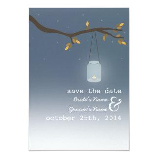 Mason Jar Outdoor Evening Fall Save The Date Card