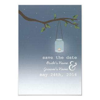 Mason Jar Outdoor Evening Save The Date Card