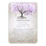 "Mason Jar Radiant Lavender Wedding Direction Cards 3.5"" X 5"" Invitation Card"