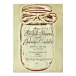 Mason Jar Rustic Country Bridal Shower Invitations Custom Invite
