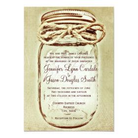 Mason Jar Rustic Country Wedding Invitations 4.5