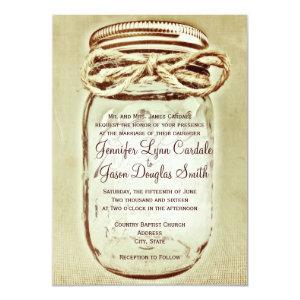 Mason Jar Rustic Country Wedding Invitations Invitation