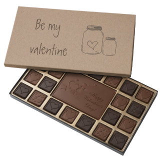 Mason Jar Rustic Love You With All My Heart 45 Piece Box Of Chocolates