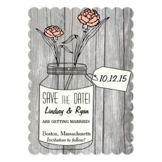 Mason Jar Save the Date! Card