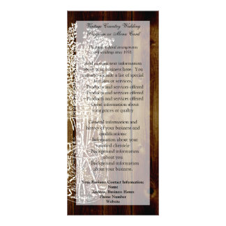 Mason Jar Stamp on Dark Wood Plank Rack Card Design
