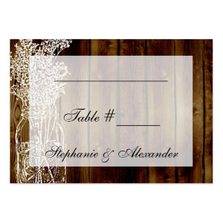 Mason Jar Stamp Table Seating Place Cards Large Business Cards (Pack Of 100)