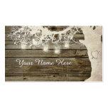 Mason Jar String Lights Rustic Tree Place Card