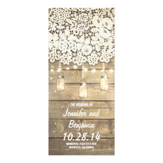 Mason Jar String Lights Rustic Wedding Programs