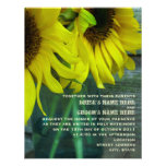 Mason Jar Sunflowers & Barnwood Fall Wedding Personalized Announcement