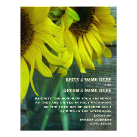 Mason Jar Sunflowers Fall Wedding Invitation