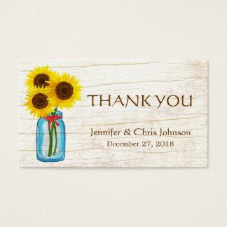 Mason Jar & Sunflowers Rustic Country Wedding Business Card