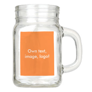 Mason Jar uni Orange