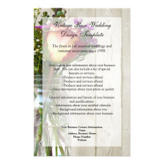Mason Jar w/Rose and Wildflowers Flyer