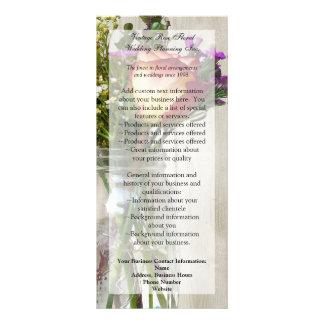 Mason Jar w/Rose and Wildflowers Rack Card