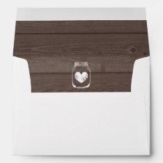 Mason Jar Wedding Envelopes And Wood Grain Liner at Zazzle
