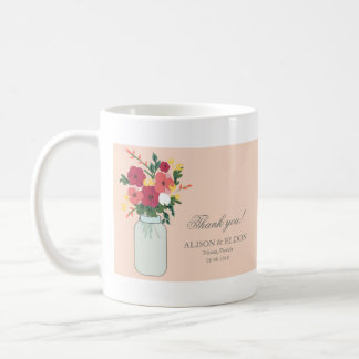 Mason Jar Wedding Invitation – Pastel Apricot Coffee Mug