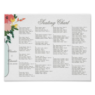 Mason Jar Wedding Invitation – Pastel Floral White Poster