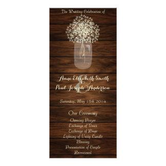 Mason jar Wedding Program