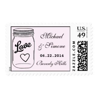 Mason Jar Wedding Save The Date Postage