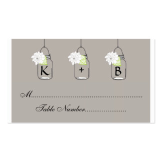 Mason Jar Wedding Seating Cards // Escort Cards Double-Sided Standard Business Cards (Pack Of 100)