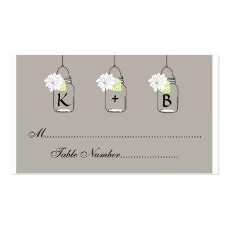 Mason Jar Wedding Seating Cards // Escort Cards Business Card Template