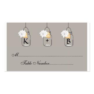 Mason Jar Wedding Seating Cards Escort Cards Business Card Templates