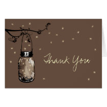 Mason Jar Whimsy Fireflies Card