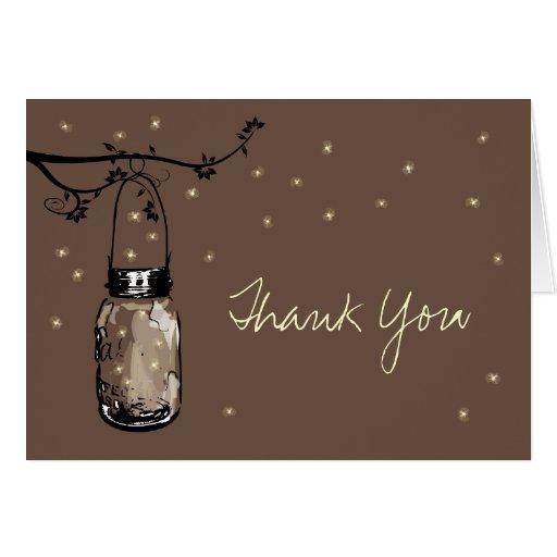 Mason Jar Whimsy Fireflies Greeting Cards