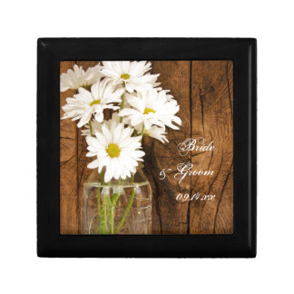 Mason Jar White Daisies Country Wedding Gift Box