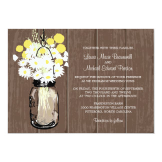 Mason Jar Wild Daisies & Billy Balls Card