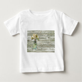 Mason jar wildflower barn wood french country baby T-Shirt