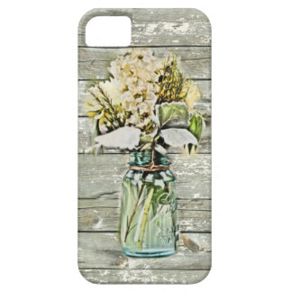 Mason jar wildflower barn wood french country iPhone SE/5/5s case