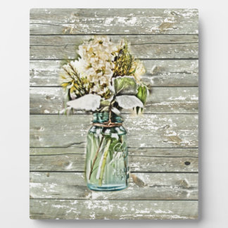 Mason jar wildflower barn wood french country plaque