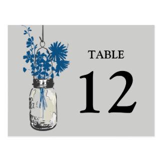 Mason Jar & Wildflowers Double sided Table Card