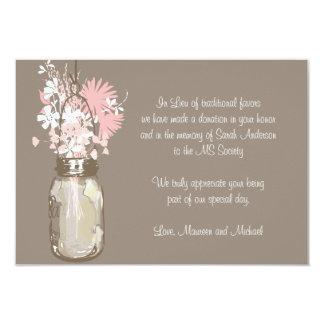 Mason Jar & Wildflowers Favor Card